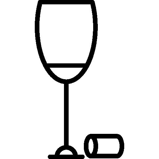 verre de vin avec bouchon